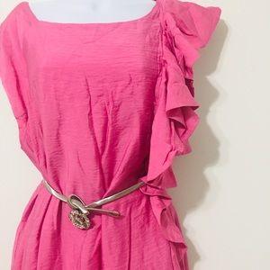 """ALLEN SCHWARTZ Pink Dress 14"""""""